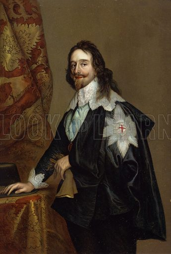 Charles I (1600-1649). 1649). King of England, King of Scotland, and King of Ireland.