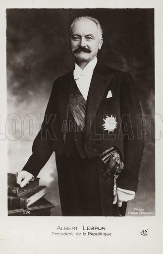 Albert Francois Lebrun (1871–1950). French politician and President of France.