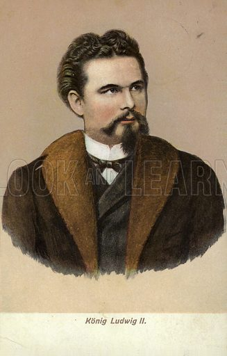 Ludwig II (1845-1886). King of Bavaria from 1864.