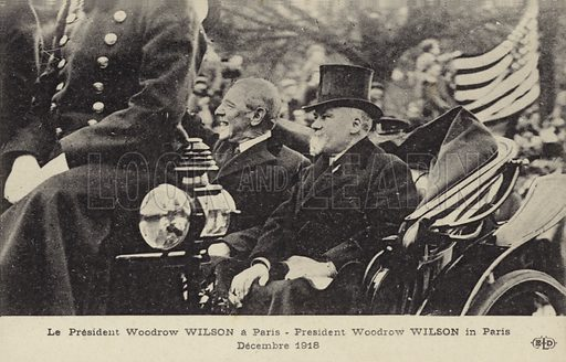 Thomas Woodrow Wilson (1856- 1924). 28th President of the United States, from 1913 to 1921 depicted in Paris in 1918.