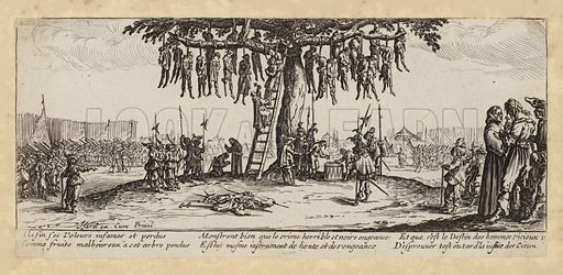 Plate from The Miseries and Misfortunes of War, engraved by Israel Henriet.