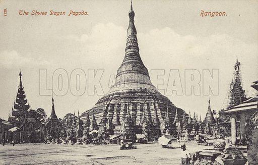 The Shwee Dagon Pagoda, Rangoon.