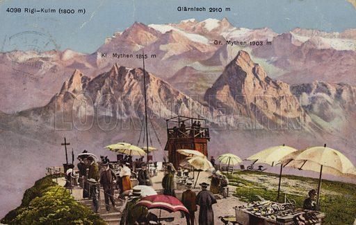 Summit of Rigi-Kulm, Switzerland.