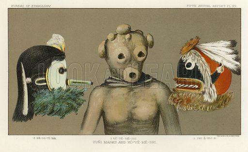 Zuni masks and Ko-Ye-Me-Shi