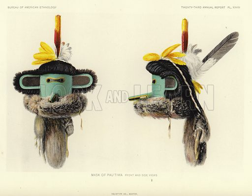 Mask of Pautiwa – front and side views