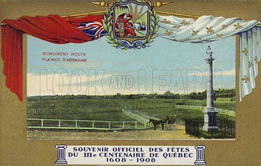 Quebec Tercenenary, 1908. The Wolfe Monument and the Plains of Abraham.