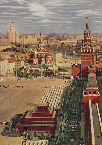 Red Square, picture, image, illustration