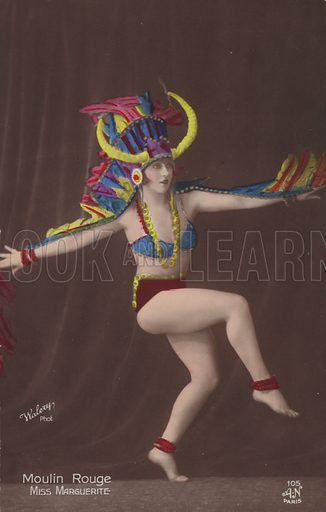 Miss Marguerite, dancer at the Moulin Rouge