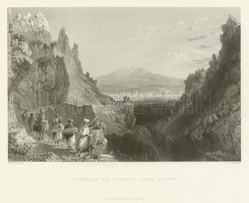 Approach to Antioch from Aleppo, 1837.