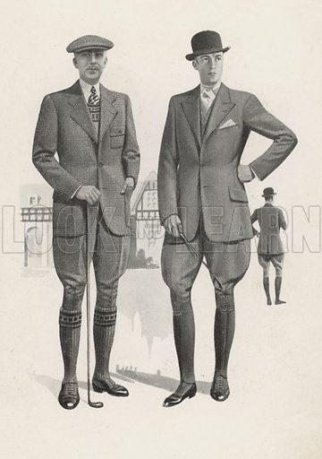 Men's fashion, 1930s. Illustration for La Mode Francaise Officielle, Printemps Ete 1932.