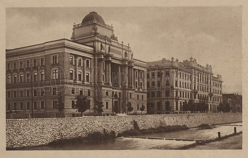 Palace of Justice and Central Post Office, Sarajevo.
