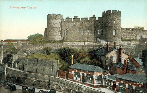 Shrewsbury Castle. Postcard, early 20th century.