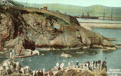 Douglas, Port Skillion, Isle of Man. Postcard, early 20th century.