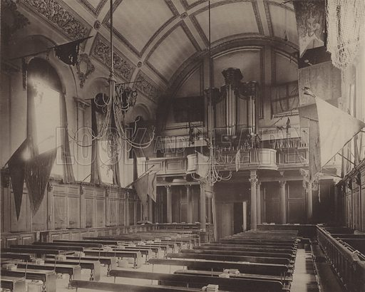 Chelsea Hospital, Interior of the Chapel. Illustration for Later Renaissance Architecture in England by John Belcher and Mervyn E Macartney (Batsford, 1901).  Magnificent photographs printed in gravure.
