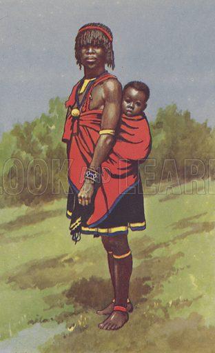 Native woman, Empangiri District. Educational poster.