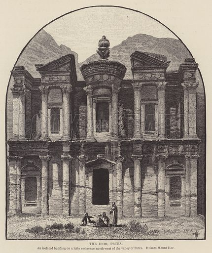 The Deir, Petra. Illustration for Picturesque Palestine edited by Sir Charles Wilson (Virtue, c 1880).