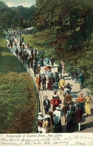 Promenade in Central Park, New York