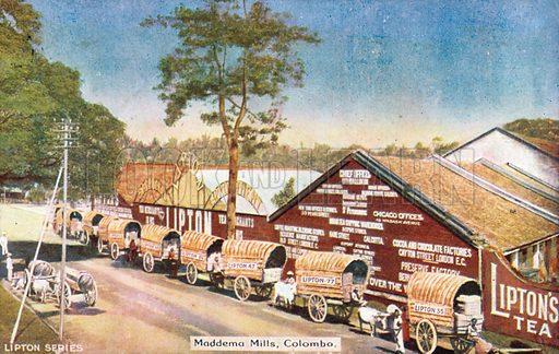 Maddema Mills, Colombo. Postcard, early 20th century.