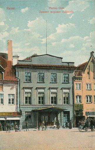 Marine Club, Reval. Reval is today known as Tallinn, capital of Estonia. Postcard, early 20th century.