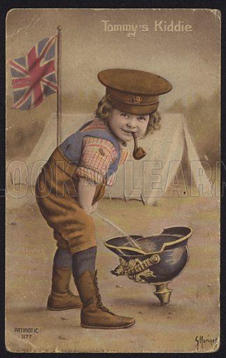 Tommy's Kiddie, British First World war propaganda postcard