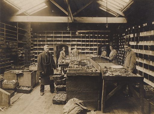 Unidentified English engineering works, early 20th century. One of series of photographs is dated 15 March 1927.
