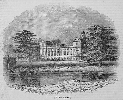 Wilton House. Illustration for The Penny Magazine, 1839.