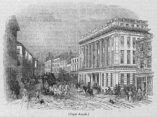 Royal Arcade. Illustration for The Penny Magazine, 1840.