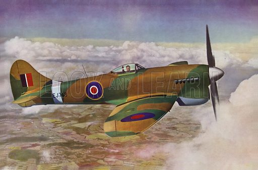 The Hawker Tempest, which was a British fighter aircraft primarily used by the Royal Air Force (RAF) in the Second World War.  This is the Tempest V.