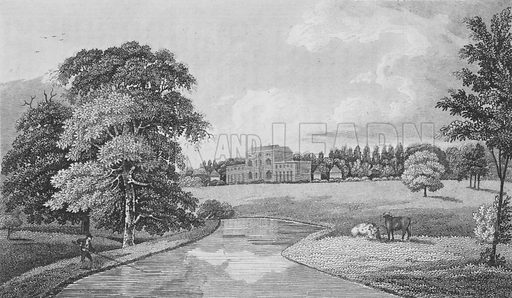 Theobalds, Hertfordshire.  Illustration for London, being an accurate history and description of the British Metropolis, by David Hughson (J Stratford, 1806-11).