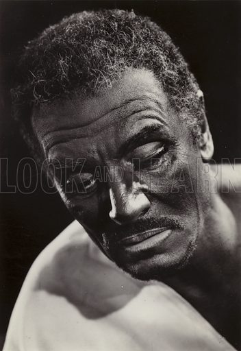 Laurence Olivier as Othello.  Postcard, 20th century.