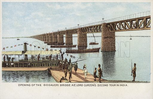 Opening of the Godaveri Bridge, H. E. Lord Curzon's Second Tour in India.