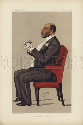 Mr Reuben Sassoon.  Vanity Fair cartoon, 20 September 1890.