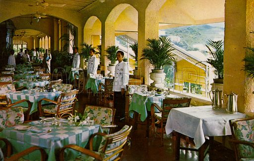 Verandah, Repulse Bay Hotel, Hong Kong, 1959.