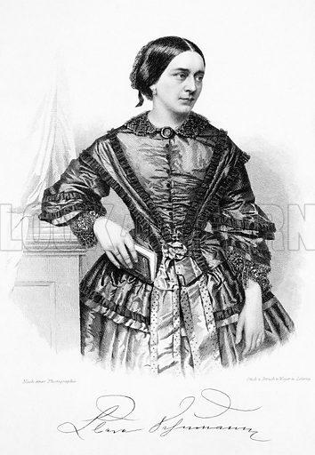 Clara Schumann (1819-1896), German pianist and composer.
