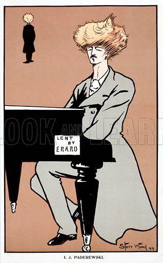 Ignacy Jan Paderewski (1860–1941), Polish pianist, composer, politician and independence campaigner, 1899.