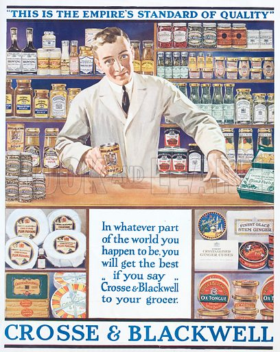 Advertisement for Crosse and Blackwell foods, c1920.