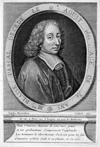 Blaise Pascal (1623–1662), French mathematician and physicist.