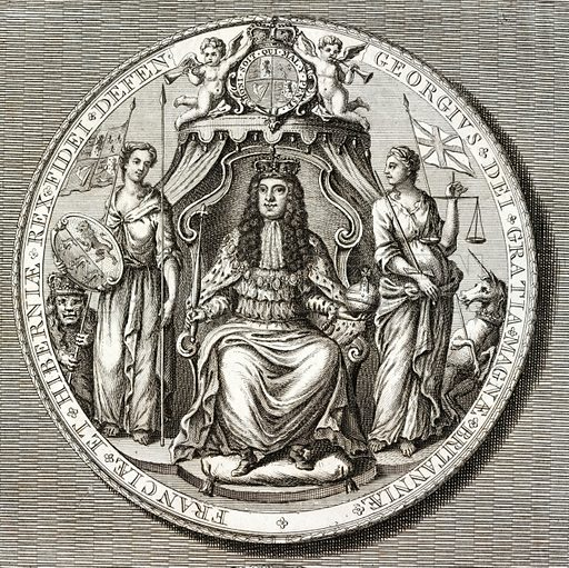Great Seal of King George I, 18th Century.