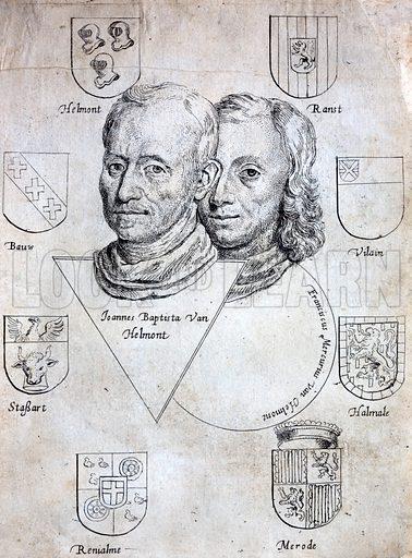 Jan Baptist van Helmont (1580-1644), Flemish chemist, physiologist and doctor, and his son, the alchemist Franciscus Mercurius van Helmont (1614-c1699).