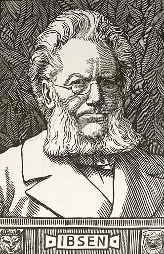 Henrik Ibsen (1828-1906), Norwegian playwright.