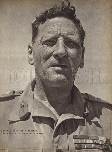 Claude Auchinleck (1884-1981), British general, commander of the British Army in North Africa, World War II, 1942.