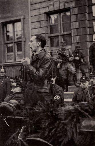 German Nazi politician Joseph Goebbels making a speech.