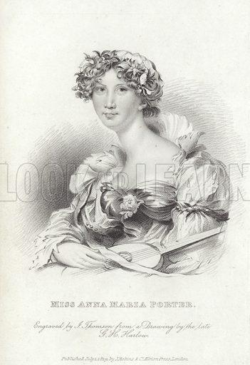 Anna Maria Porter (1780-1832), English poet and novelist, 1819.