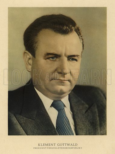 Klement Gottwald (1896-1953), Czechoslovakian politician and first communist leader of his country.