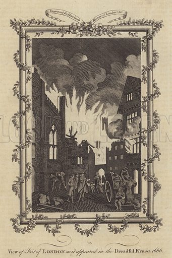 View of Part of London as it appeared in the Dreadful Fire in 1666