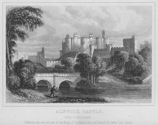 Alnwick Castle, Northumbebland. Loose engraving.