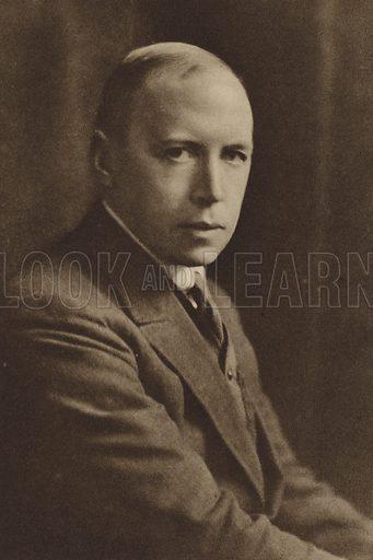 Alfred Noyes, portrait.
