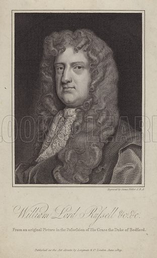William Russell, Lord Russell (1639-1683), English politician. After a painting by Sir Godfrey Kneller.