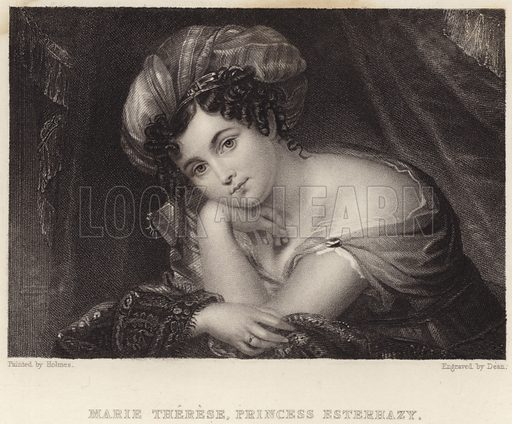 Marie Therese, Princess Esterhazy. Illustration for Fisher's Drawing Room Scrap Book, 1836.