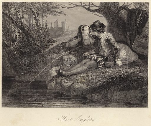 The Anglers. Illustration for Fisher's Drawing Room Scrap Book, 1837.